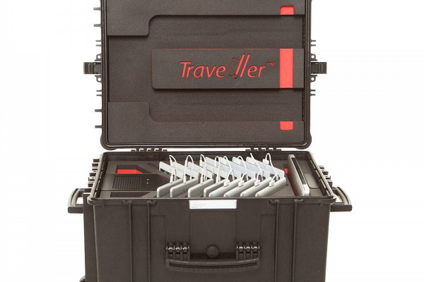 The Traveller™ range offers highly portable solutions to store, charge and update tablets, e-readers, netbooks or games-based learning devices, such as the Nintendo DSi.